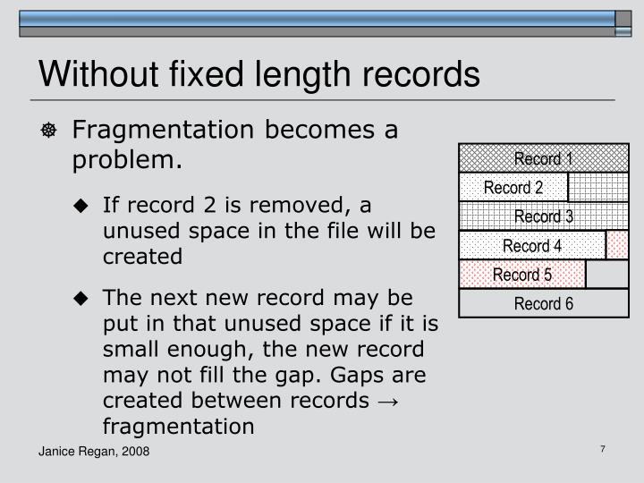 Without fixed length records
