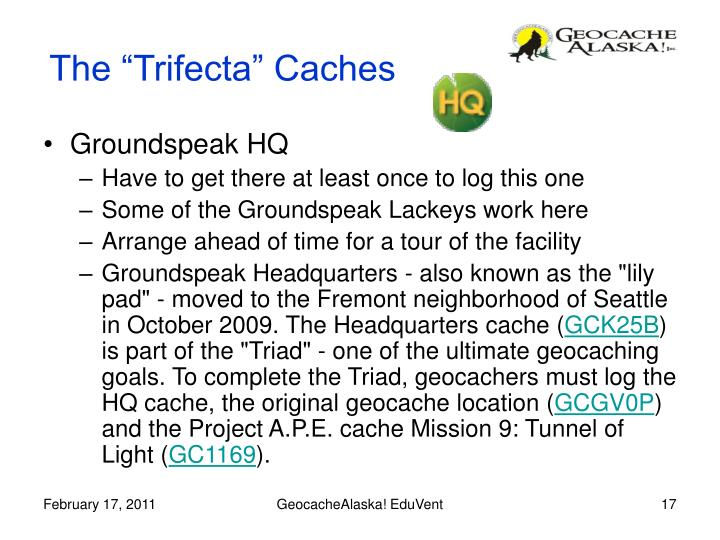 """The """"Trifecta"""" Caches"""