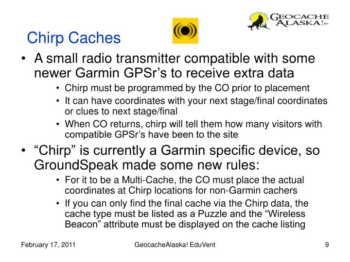 Chirp Caches