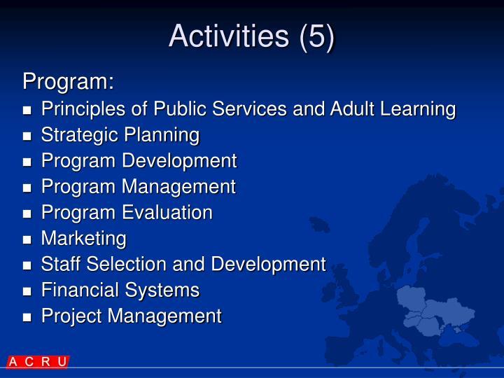 Activities (5)