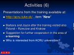 activities 6