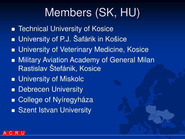 Members (SK, HU)