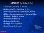 members sk hu