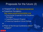proposals for the future 2