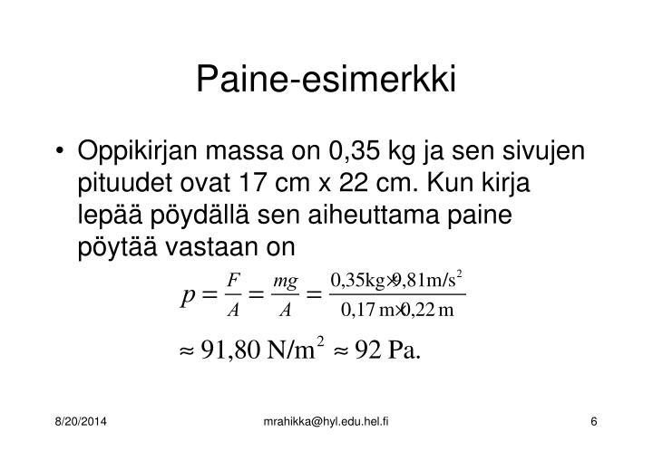 Paine-esimerkki