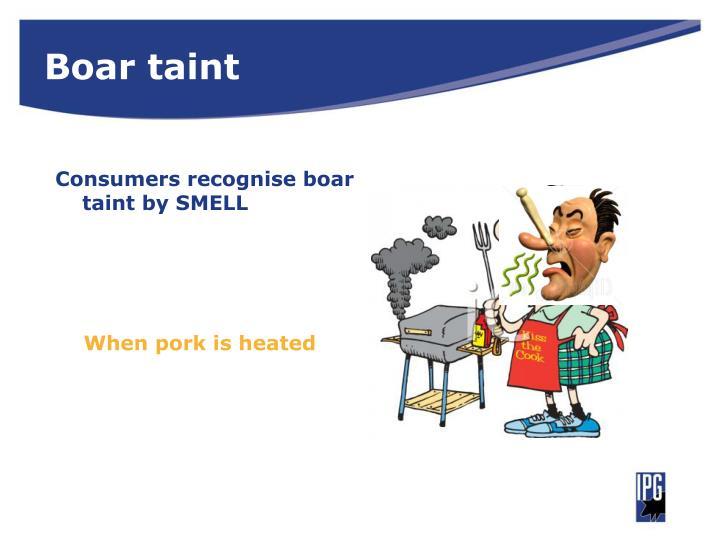 Boar taint