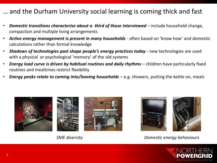 … and the Durham University social learning is coming thick and fast