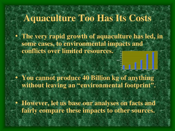Aquaculture Too Has Its Costs
