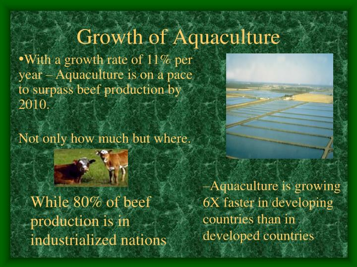 Growth of Aquaculture