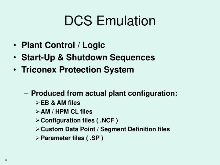 DCS Emulation