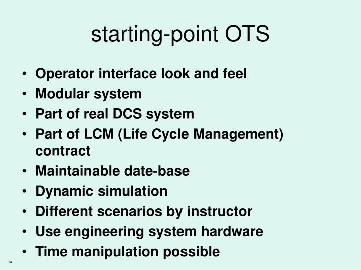 starting-point OTS