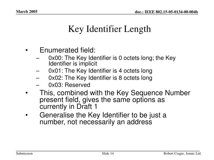Key Identifier Length