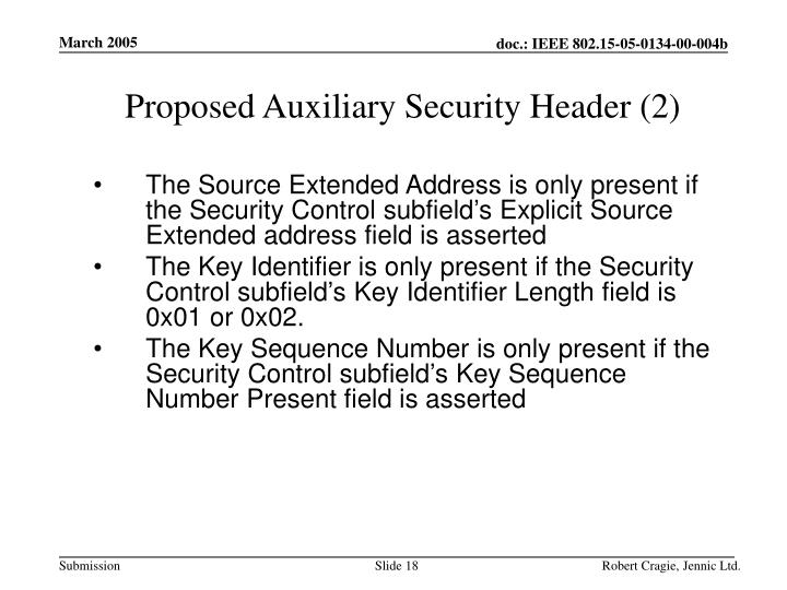 Proposed Auxiliary Security Header (2)