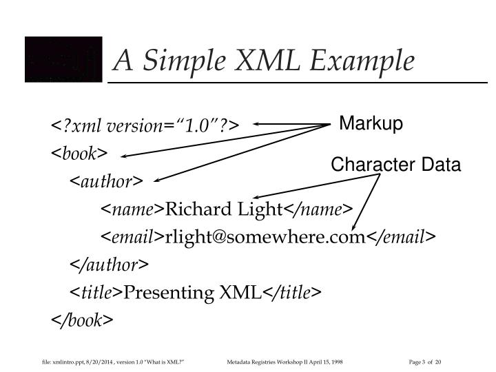 A simple xml example