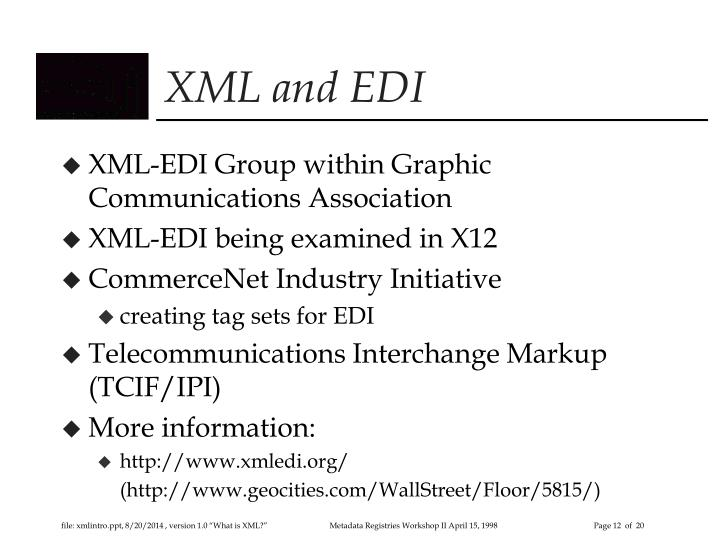 XML and EDI
