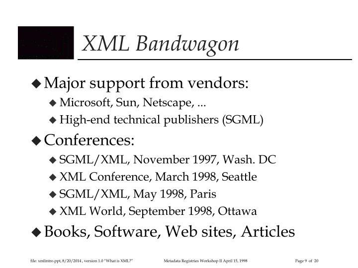 XML Bandwagon