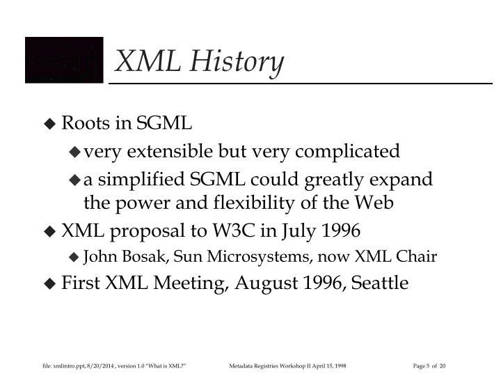 XML History
