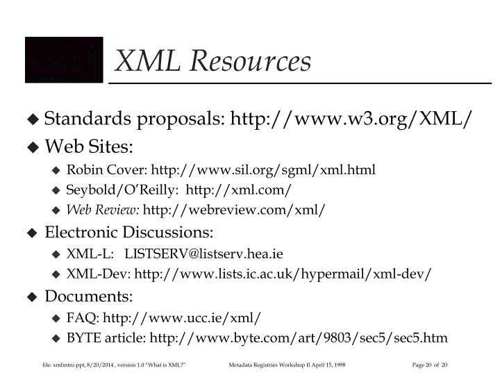 XML Resources