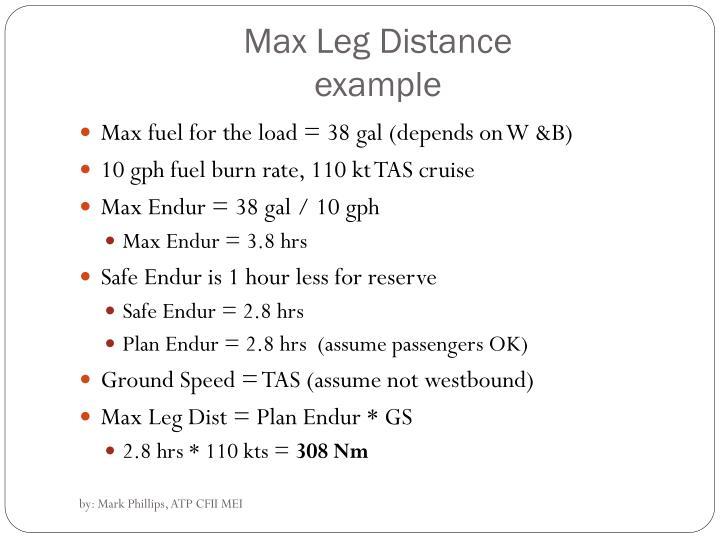 Max Leg Distance