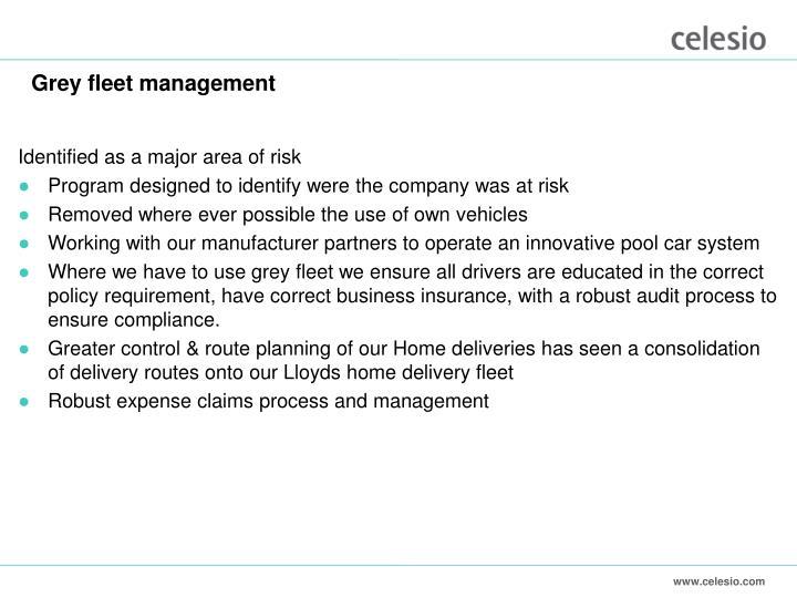 Grey fleet management