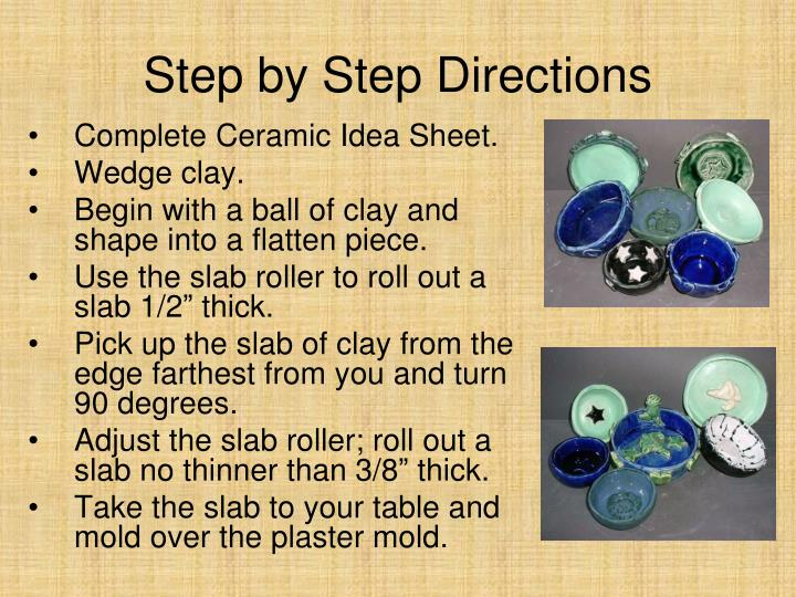 Complete Ceramic Idea Sheet.