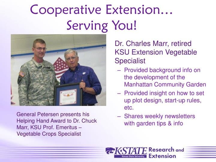 Cooperative Extension…                     Serving You!