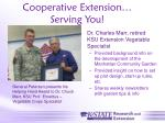 cooperative extension serving you