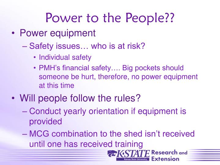 Power to the People??
