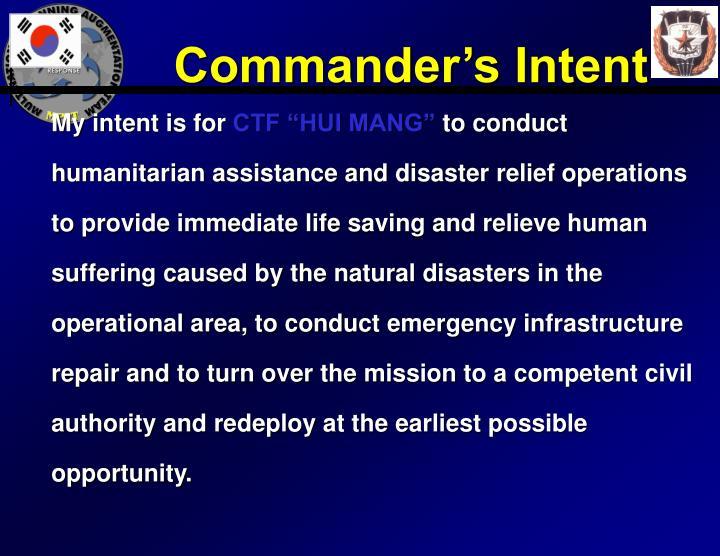 Commander's Intent