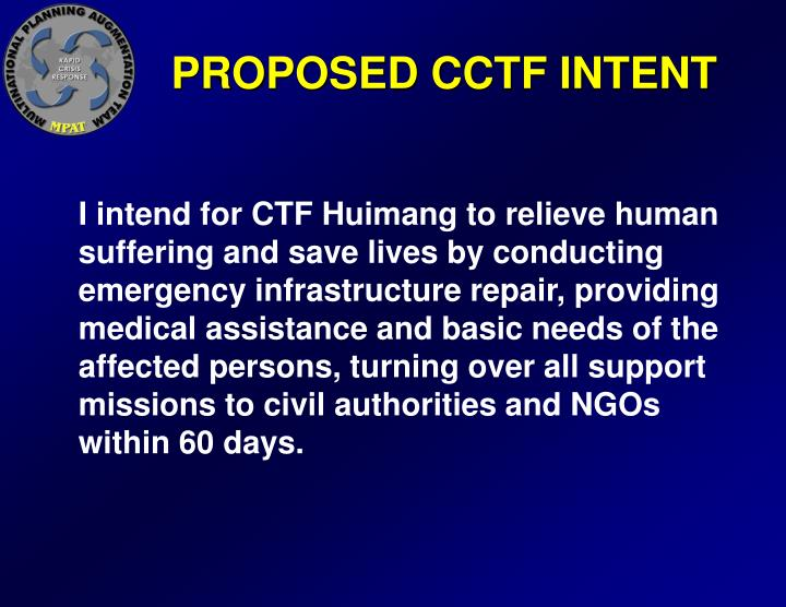 PROPOSED CCTF INTENT