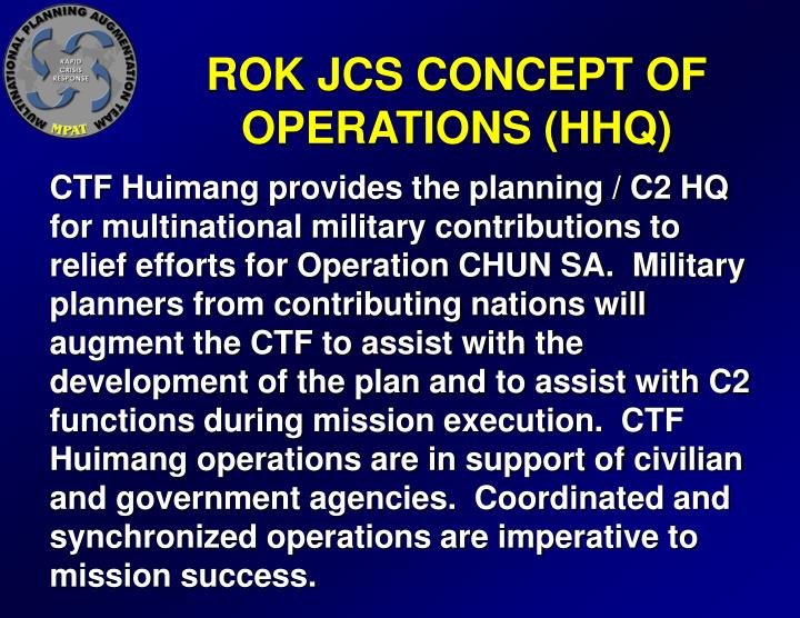 ROK JCS CONCEPT OF OPERATIONS (HHQ)