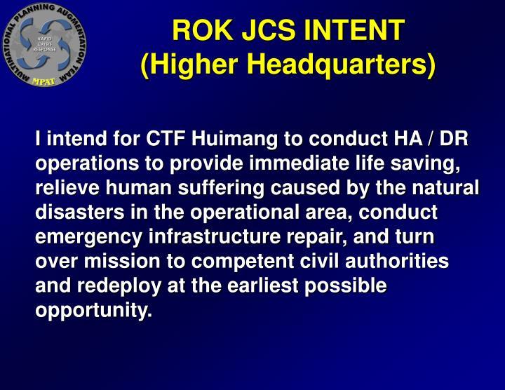ROK JCS INTENT