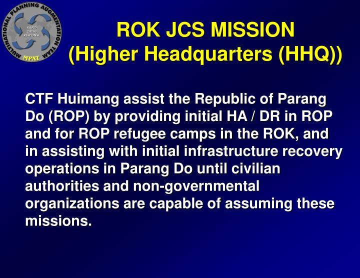 ROK JCS MISSION