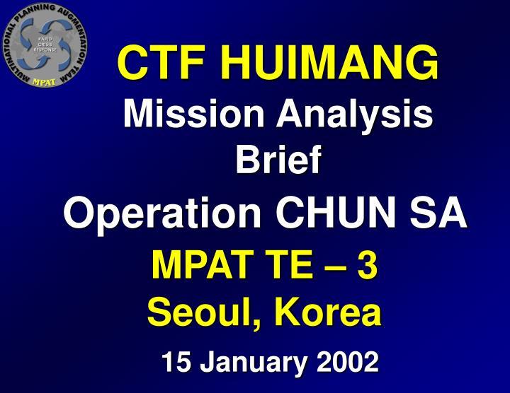 CTF HUIMANG