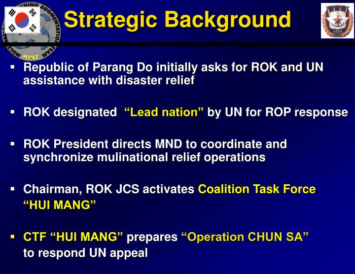 Strategic Background