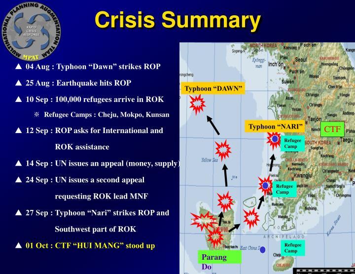 Crisis Summary