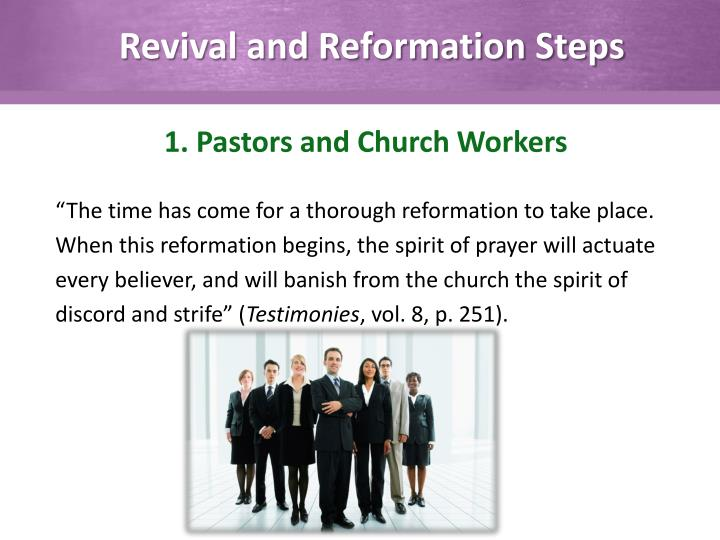 Revival and Reformation Steps