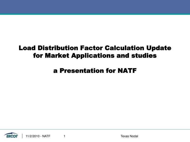 Load Distribution Factor Calculation Update