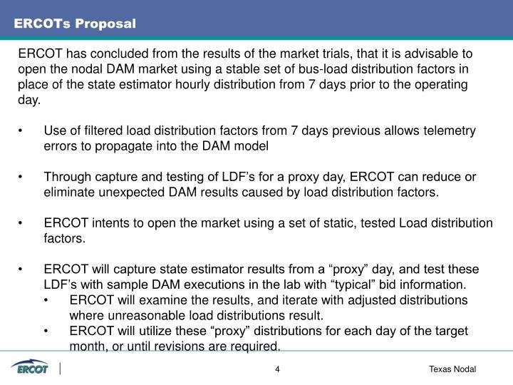 ERCOTs Proposal