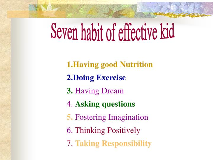 Seven habit of effective kid