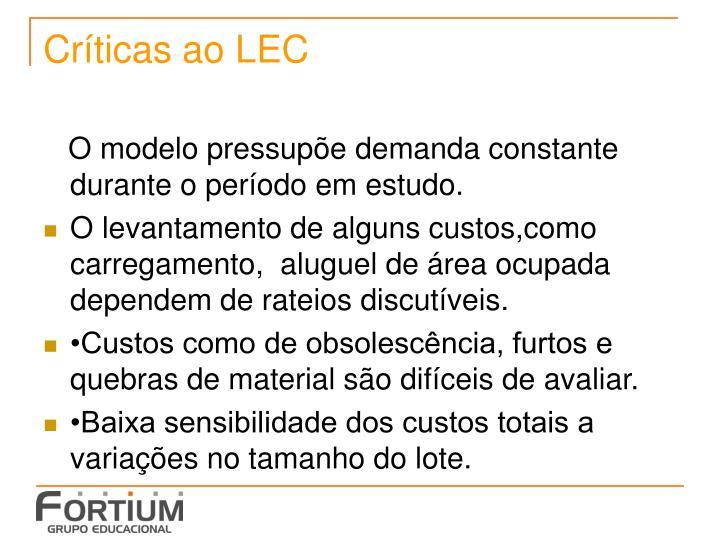 Críticas ao LEC