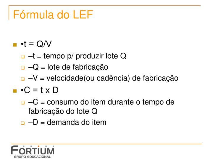 Fórmula do LEF