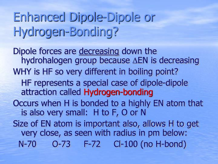 Enhanced Dipole-Dipole or  Hydrogen-Bonding?