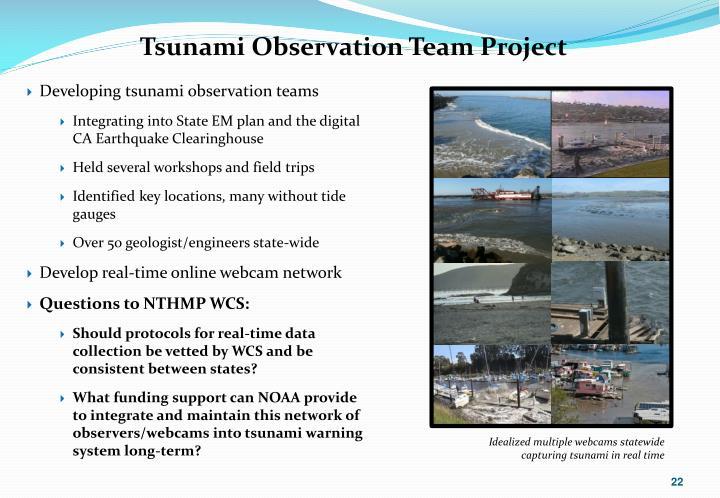 Tsunami Observation Team Project