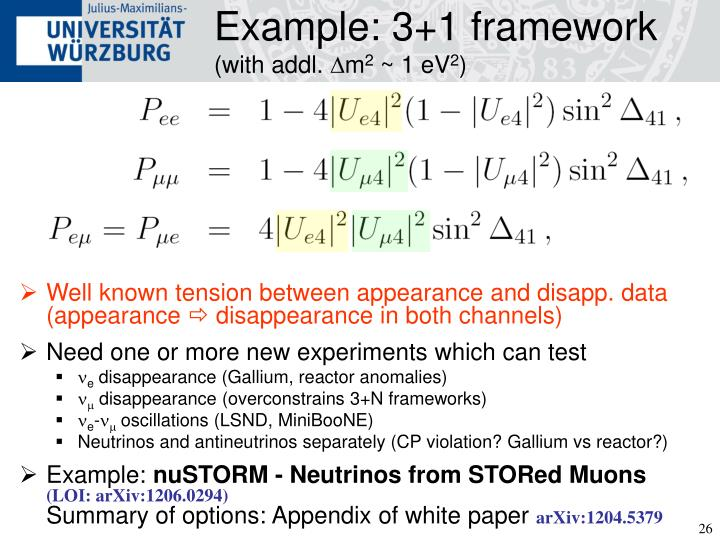 Example: 3+1 framework