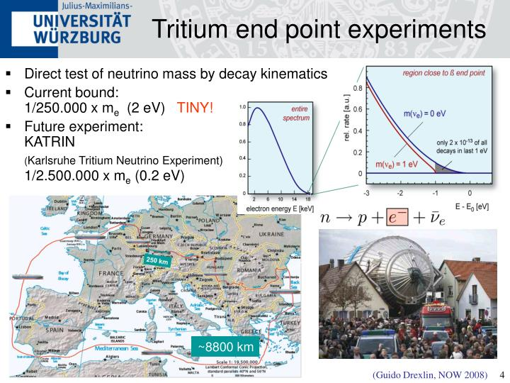 Tritium end point experiments