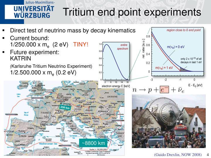Tritium end point experiments