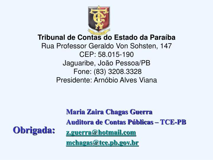 Tribunal de Contas do Estado da Paraíba