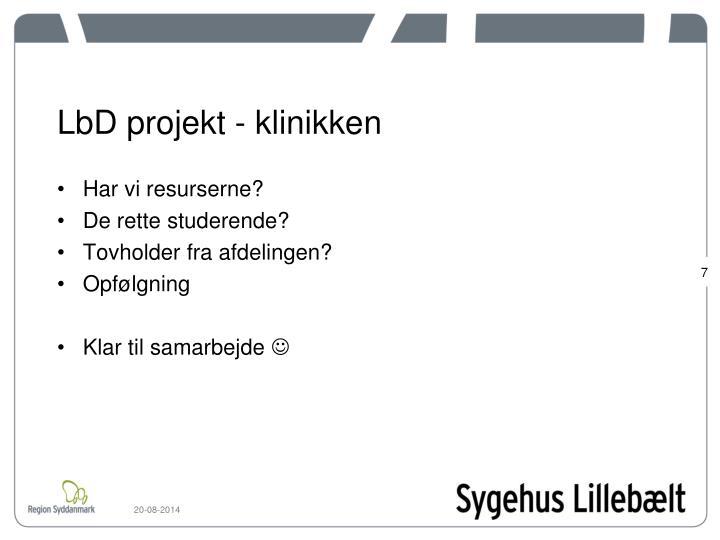LbD projekt - klinikken