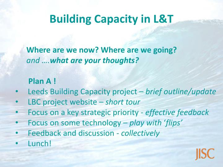 Building Capacity in L&T